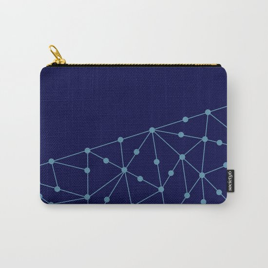 Blue abstract pattern . Mesh Carry-All Pouch