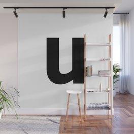 letter U (Black & White) Wall Mural