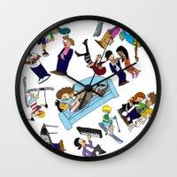 cartoons Wall Clocks featuring 2013 Cartoons 1 by Reid