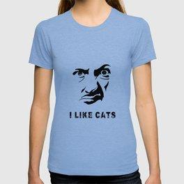 I Like Cats Face T-shirt