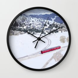 One winter day Wall Clock