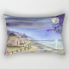 By The Light of The Silvery Moon Rectangular Pillow