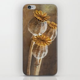 Poppy capsule iPhone Skin