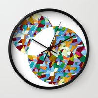 mozart Wall Clocks featuring Mozart abstraction by Laura Roode