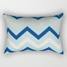 Marine zig zag - golden gradient turquoise Rectangular Pillow