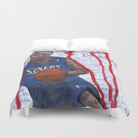 nba Duvet Covers featuring NBA PLAYERS - Allen Iverson by Ibbanez