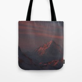 moutains landscape painting Tote Bag