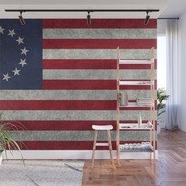 USA Betsy Ross flag - Vintage Retro Style Wall Mural