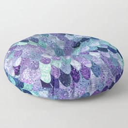 SUMMER MERMAID  Purple & Mint by Monika Strigel Floor Pillow