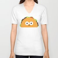 taco V-neck T-shirts featuring Taco Eclipse of the Heart by David Olenick