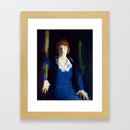 Portrait of Florence Pierce by George Bellows, 1914 Framed Art Print