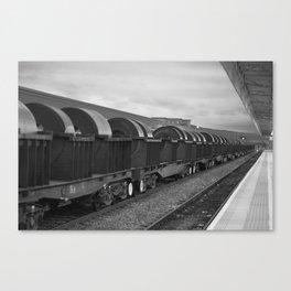 Freight Train - B&W Canvas Print
