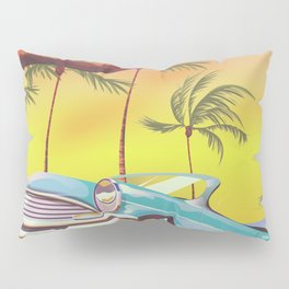 Destin Florida USA vintage style travel poster Pillow Sham
