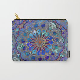 Mandala with Silk Effect Carry-All Pouch