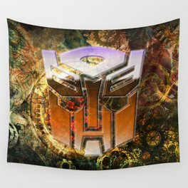 Steampunk Autobot Transform Wall Tapestry