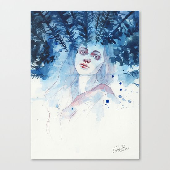 Underneath the moonlight Canvas Print
