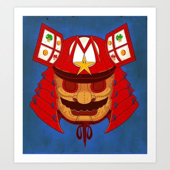 The Defender of the Mushroom Dynasty Art Print
