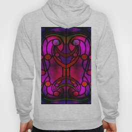 Art Nouveau Glowing Stained Glass Window Design Hoody