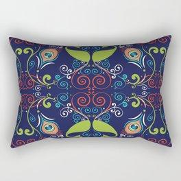 Peacock Nouveau Rectangular Pillow