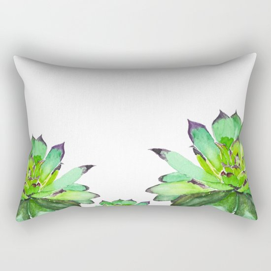 green succulent 2 Rectangular Pillow