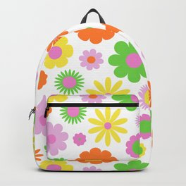 Vintage Daisy Crazy Floral Backpack