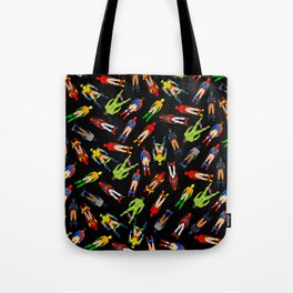 Superhero Butts Pattern (Dark) Tote Bag