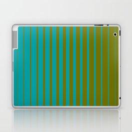 gradient stripes aqua olive Laptop & iPad Skin