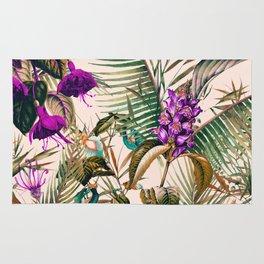 Exotic botanical foliage 03 Rug