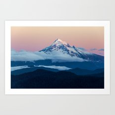 Alpenglow Mt Hood Art Print