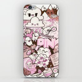 Custom Kawaii Doodle For My Sister iPhone Skin