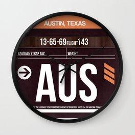 AUS Austin Luggage Tag 2 Wall Clock