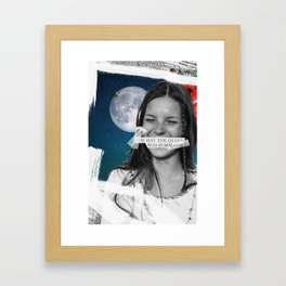 .The Day the Queen Was Born | Kate Moss. Framed Art Print