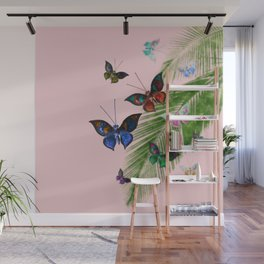 Tropical Butterflies Wall Mural