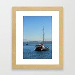Ionian Sea Scape Framed Art Print