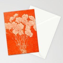 BOTANICAL STILL LIFE - ORANGE ABSTRACT Stationery Cards