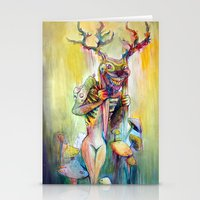 jackalope Stationery Cards featuring Jackalope by Lady Nostalgia