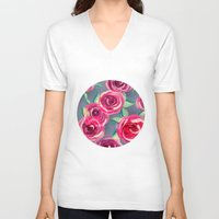 roses V-neck T-shirts featuring roses by Vita♥G