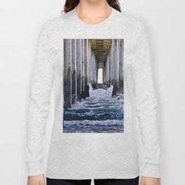 Abstract Low Tide Under Huntington Beach Pier Long Sleeve T-shirt