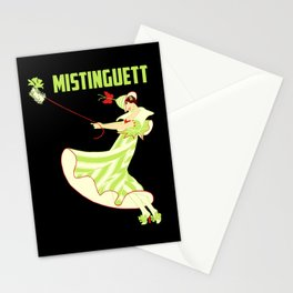 Mistinguett and her fluffy dog Stationery Cards