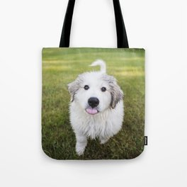 Great Pyrenees Puppy Derp Tote Bag