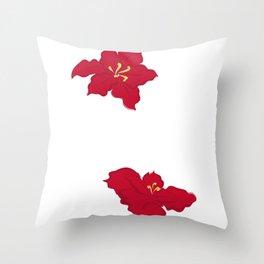 Poinsettia - red Throw Pillow