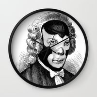 wrestling Wall Clocks featuring WRESTLING MASK 4 by DIVIDUS