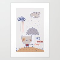Rainy days Art Print