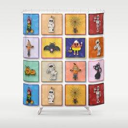 Halloween Character Pattern Shower Curtain