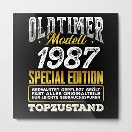 Classic car modell 1987 Metal Print