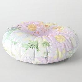 Pink Sorbet Chamomile Flowers Floor Pillow