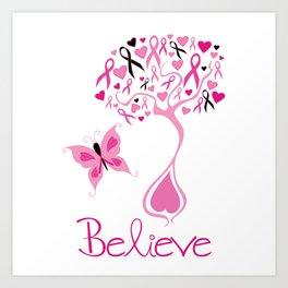 Breast Cancer Survivor Art Print