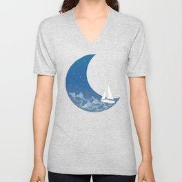 Moon Sailing Unisex V-Neck
