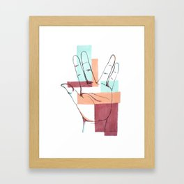 Salute! (Hand Sign) Framed Art Print