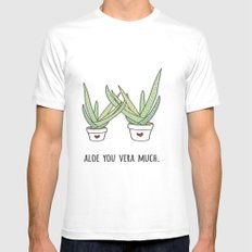 Aloe You Very Much MEDIUM White Mens Fitted Tee